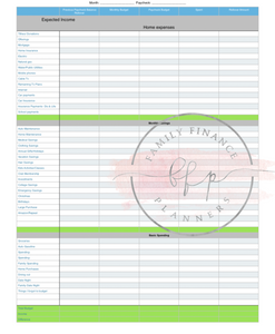 Weekly and Monthly Budget Printout