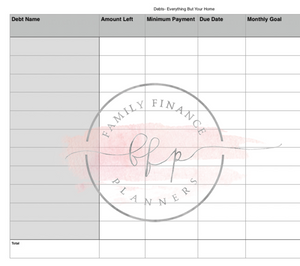 Blank Family Finance Planner - Level 1