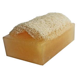 """SWEET CHAMPAGNE"" Handmade Moisturizing Luffa Soap 4oz Bar"