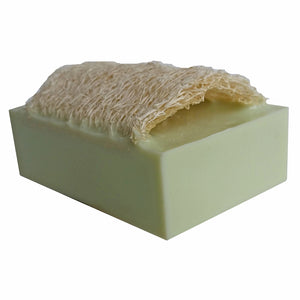 """LEMONGRASS"" Handmade Goat's Milk Moisturizing Luffa Soap 4oz Bar"