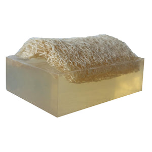 """UNSCENTED"" Handmade Shaving & Moisturizing Luffa Soap 4oz bar."