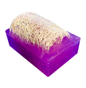 """LAVENDER"" Handmade Moisturizing Luffa Soap 4oz Bar"