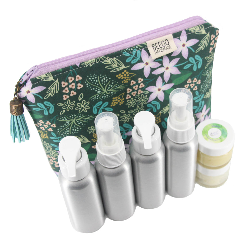 Beauty Travel Bag & Containers