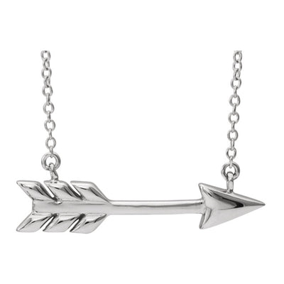 Feathered Arrow Necklace