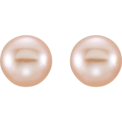 Pink Freshwater Cultured Pearl Earrings