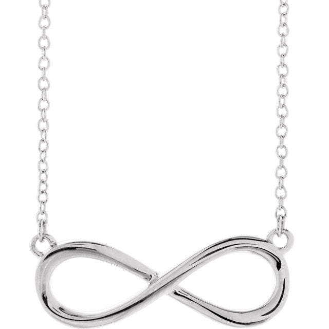 Infinity Charm Necklace in Sterling Silver - amorier