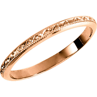 Thin Vintage Gold Band - amorier