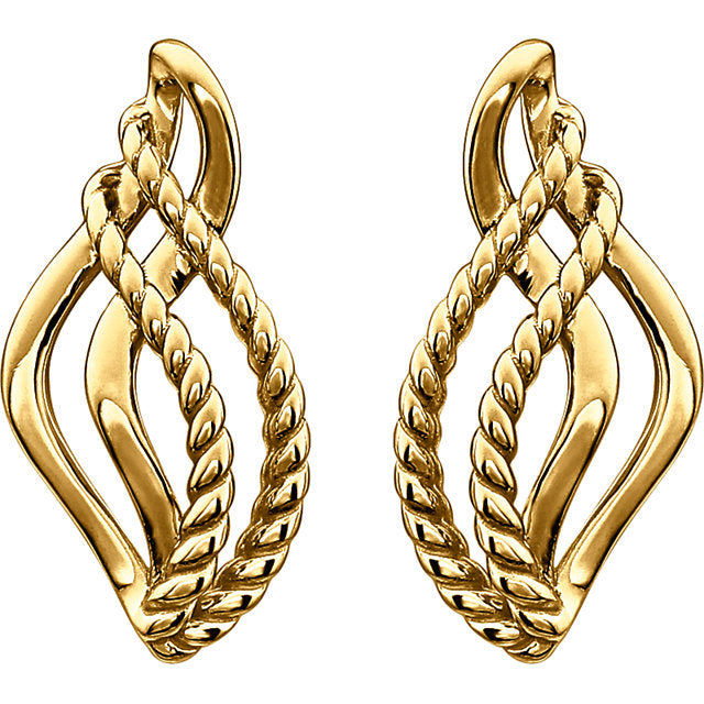 Teardrop Rope Earrings