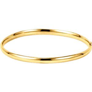 Gold Hinged Bangle - amorier