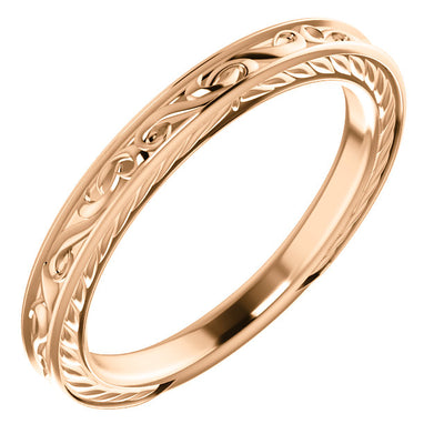 Vintage-inspired Gold Band - amorier