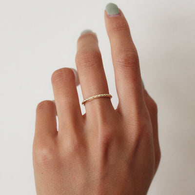 Thin Vintage Gold Band
