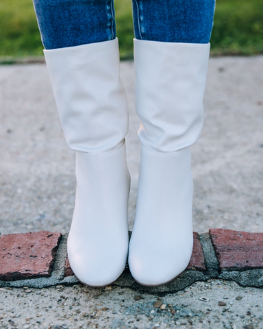 Keep Up With Me Boot -White