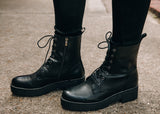 Never Say Never Combat Boot - Black