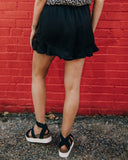 Make It Happen Ruffle Shorts - Black