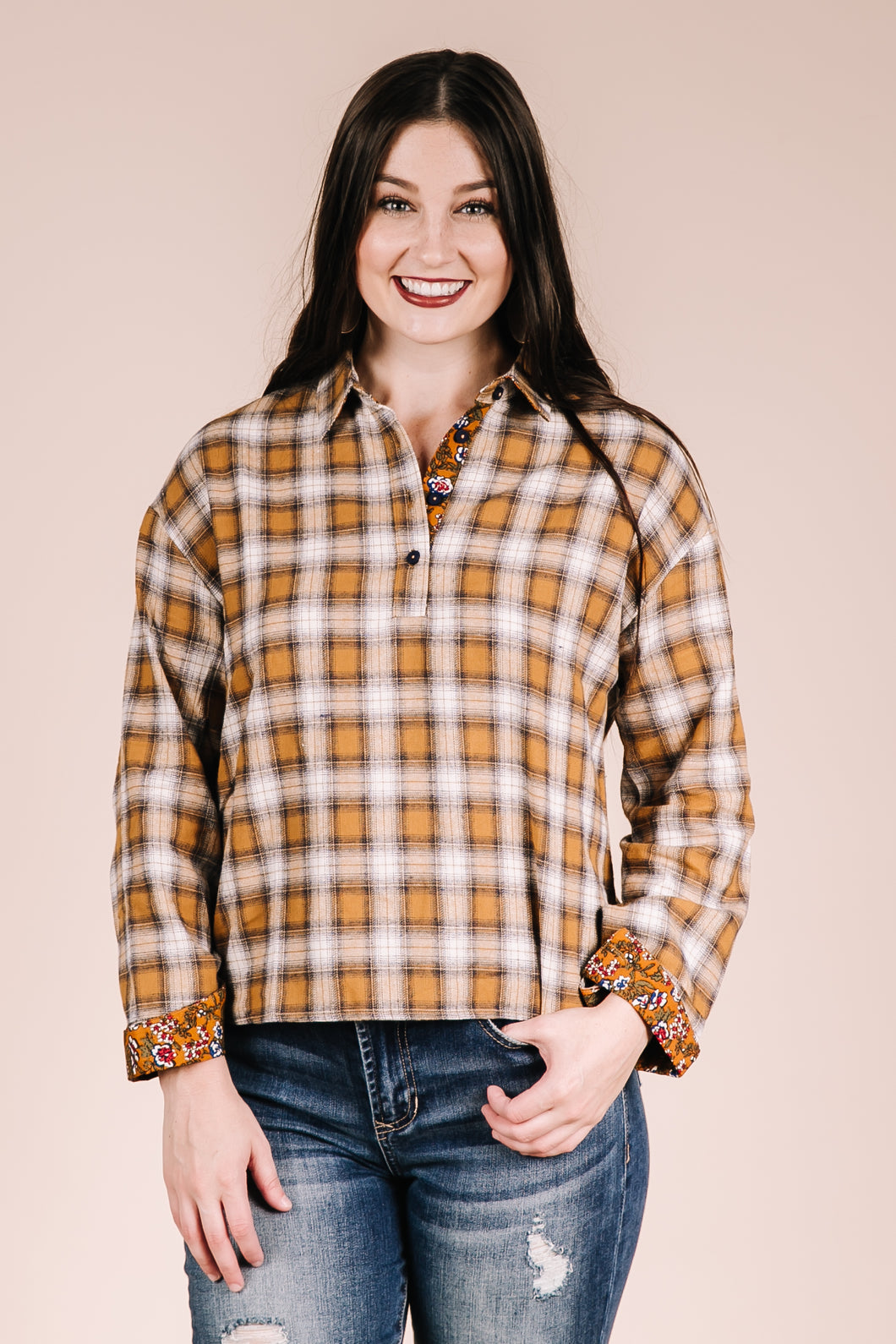 Plaid About You Blouse
