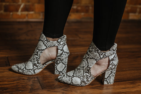 Made the Cut Bootie - Snakeskin