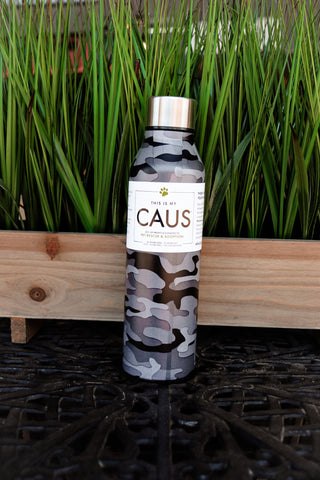 CAUS Curved Bottle - Black Camo
