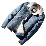 Mens Fleece Denim Jacket