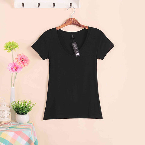 Ladies Cotton V-neck