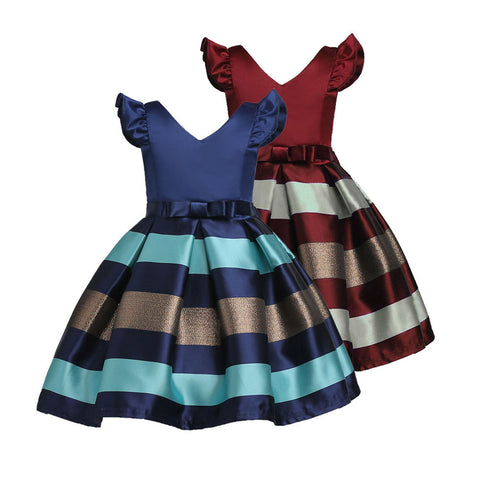 Children Toddler Baby Girl Clothes Bowknot Princess Dress