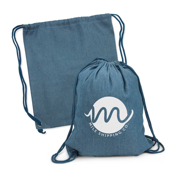Denim Drawstring Bag