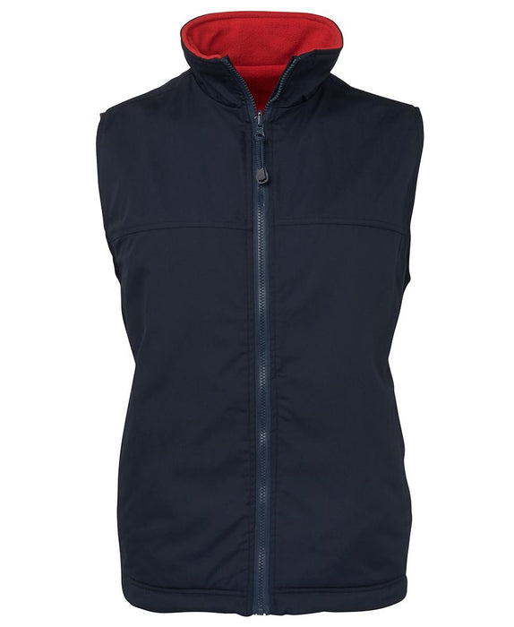 Reversible Canvas and Fleece Vest