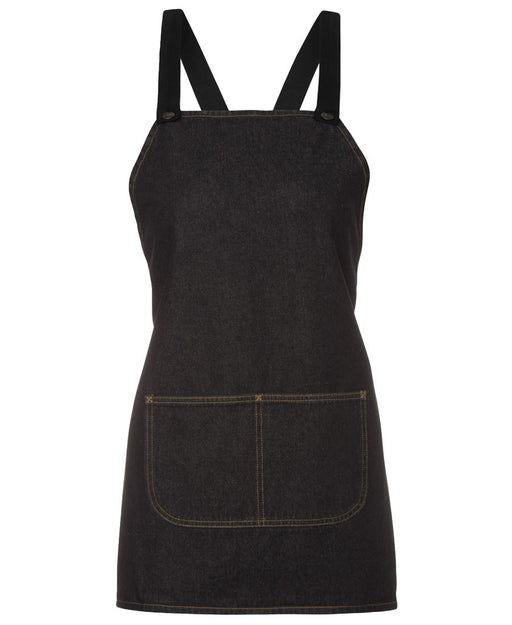 The Cross Back Denim Apron - Short