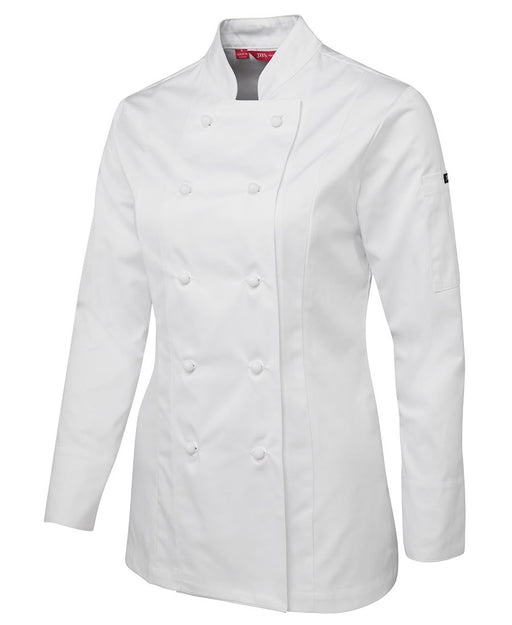 Women's Long Sleeve White Chefs Jacket