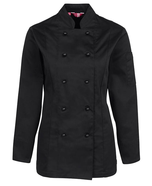 Women's Long Sleeve Black Chefs Jacket