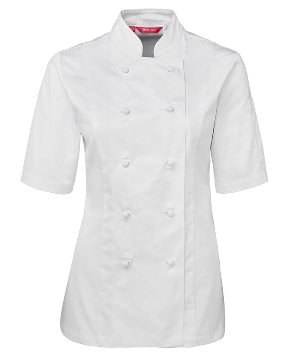 Women's Short Sleeve White Chefs Jacket