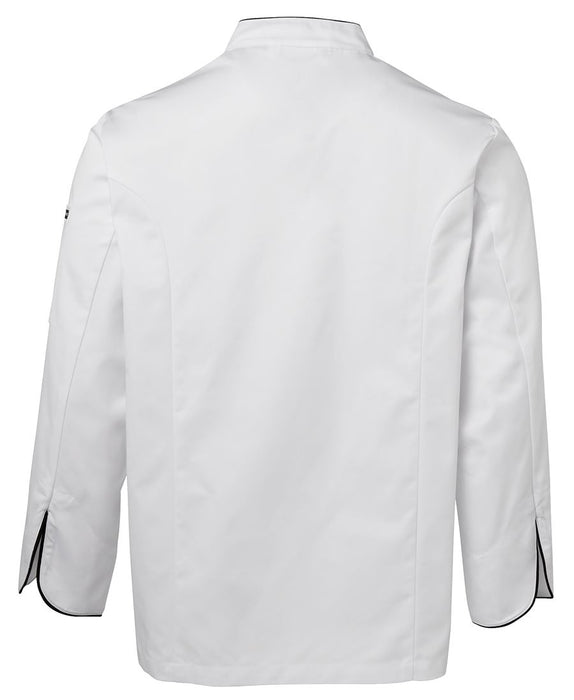Piped Long Sleeve Chefs Jacket