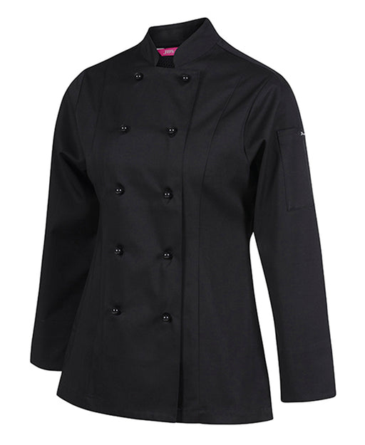 Women's Black Vented Chefs Jacket