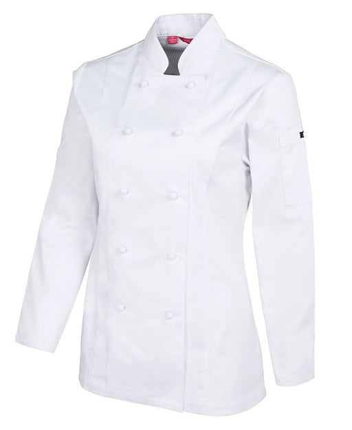 Women's White Vented Chefs Jacket