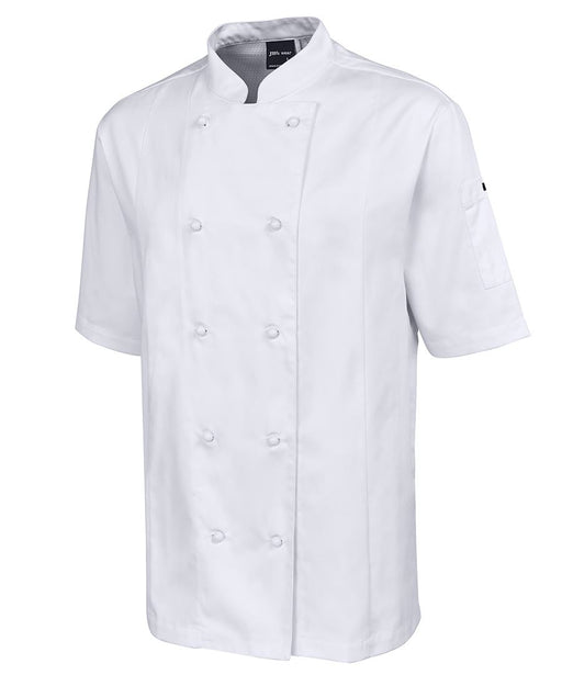 White Vented Short Sleeve Chefs Jacket