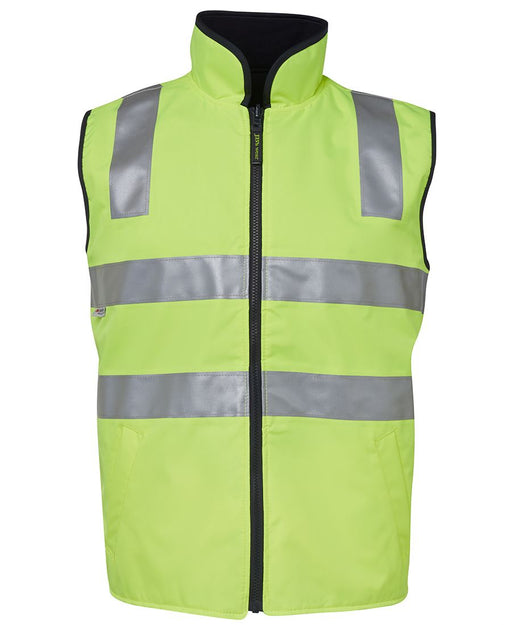 Hi Vis Fleece Lined Safety Vest - Reflective Tape