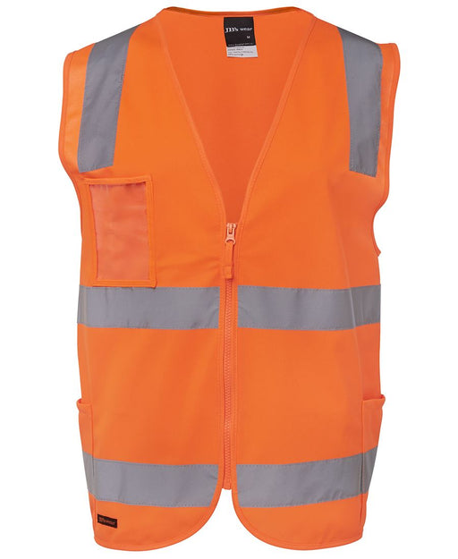 Hi Vis ZIPPER Safety Vest - Reflective Tape