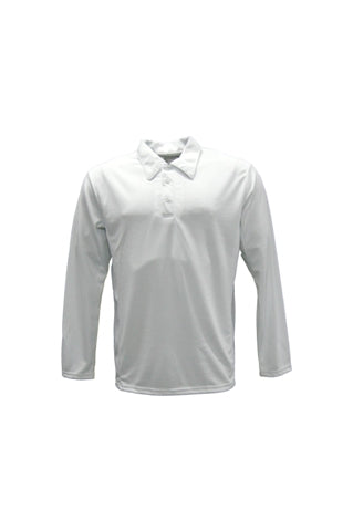 Long Sleeve MicroMesh Cricket Polo - Adult & Kid's Sizing