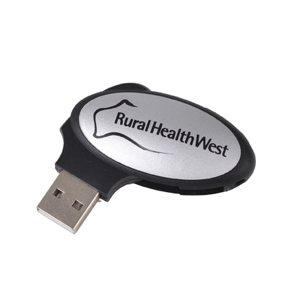 Oval Swivel Flash Drive