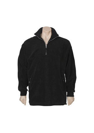 Men's Heavy Duty Polar Fleece 1/2 Zip Front