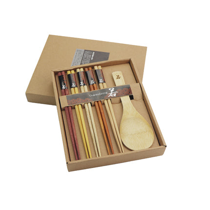 Wooden Chopsticks & Spoon Set