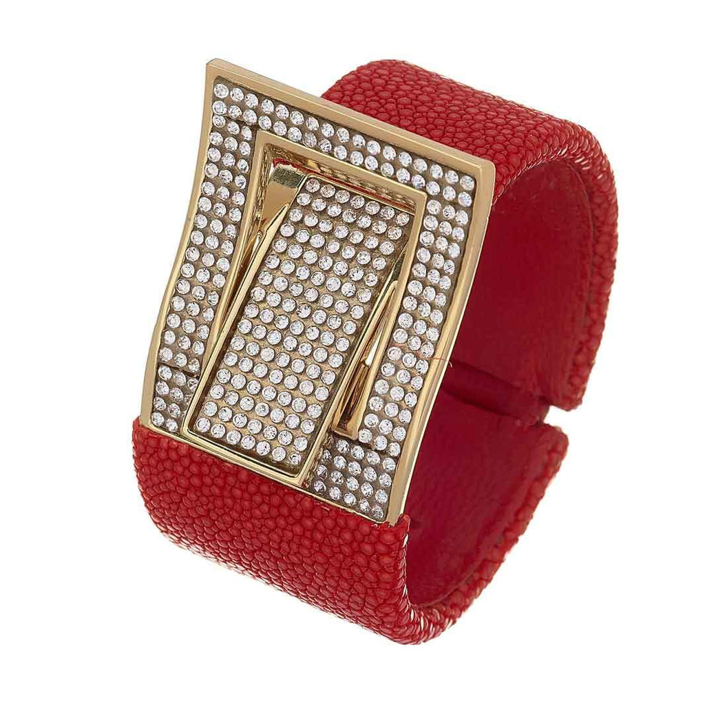 Mason Crystal Buckle Cuff