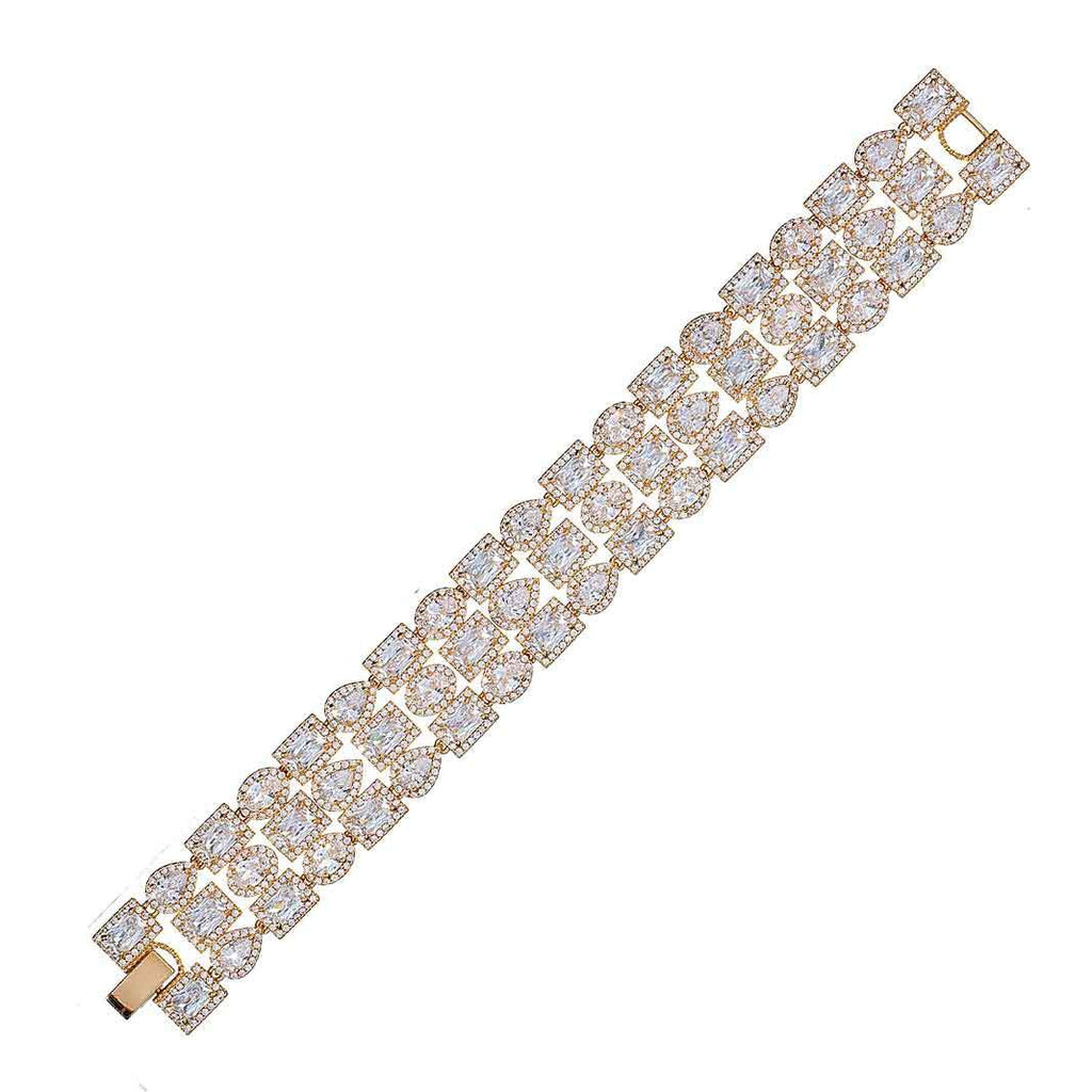 Addison Gold Crystal Bracelet