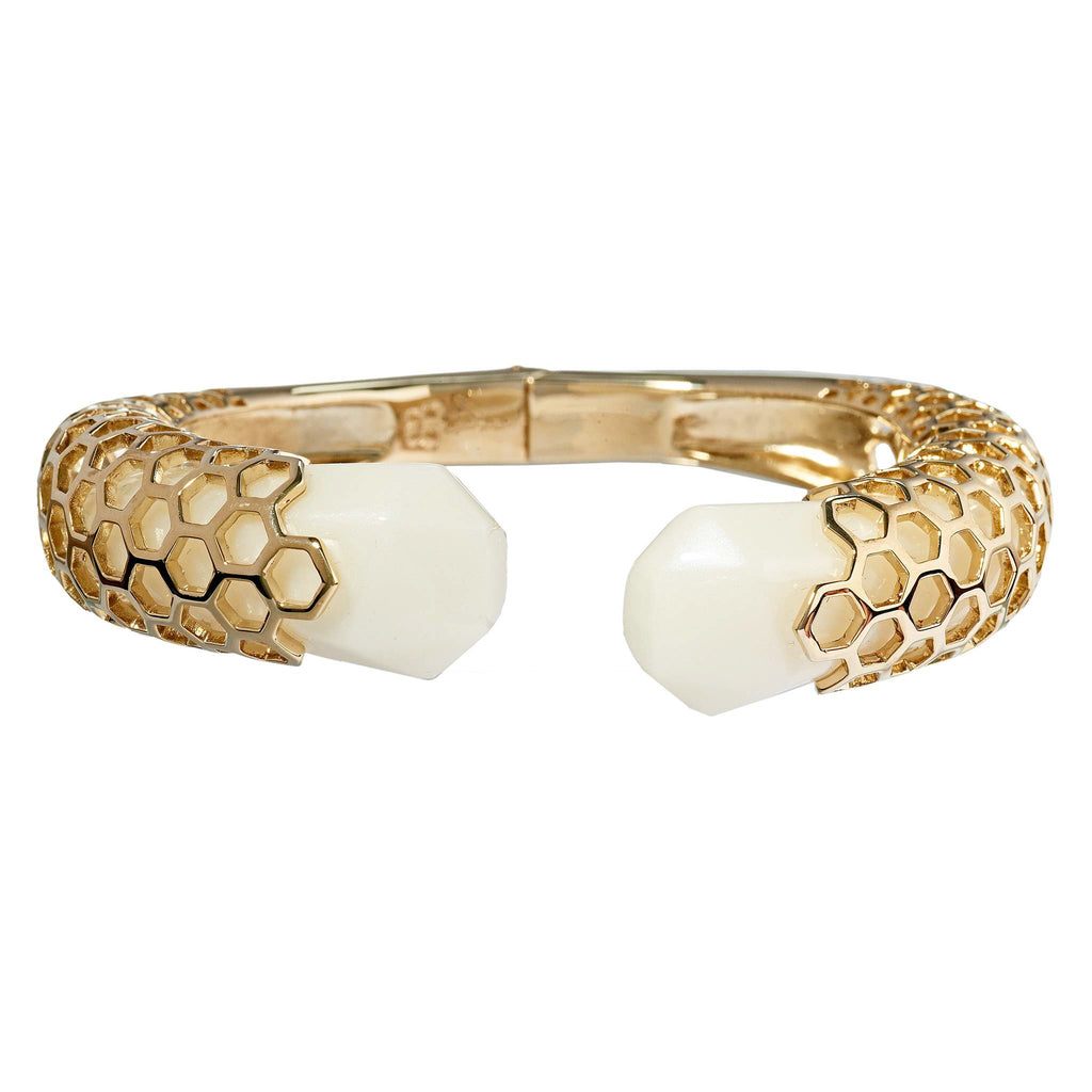 Ayleen Open Hinged White Cuff