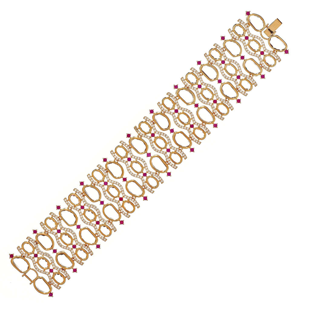 Zola Gold Ruby Crystal Bracelet