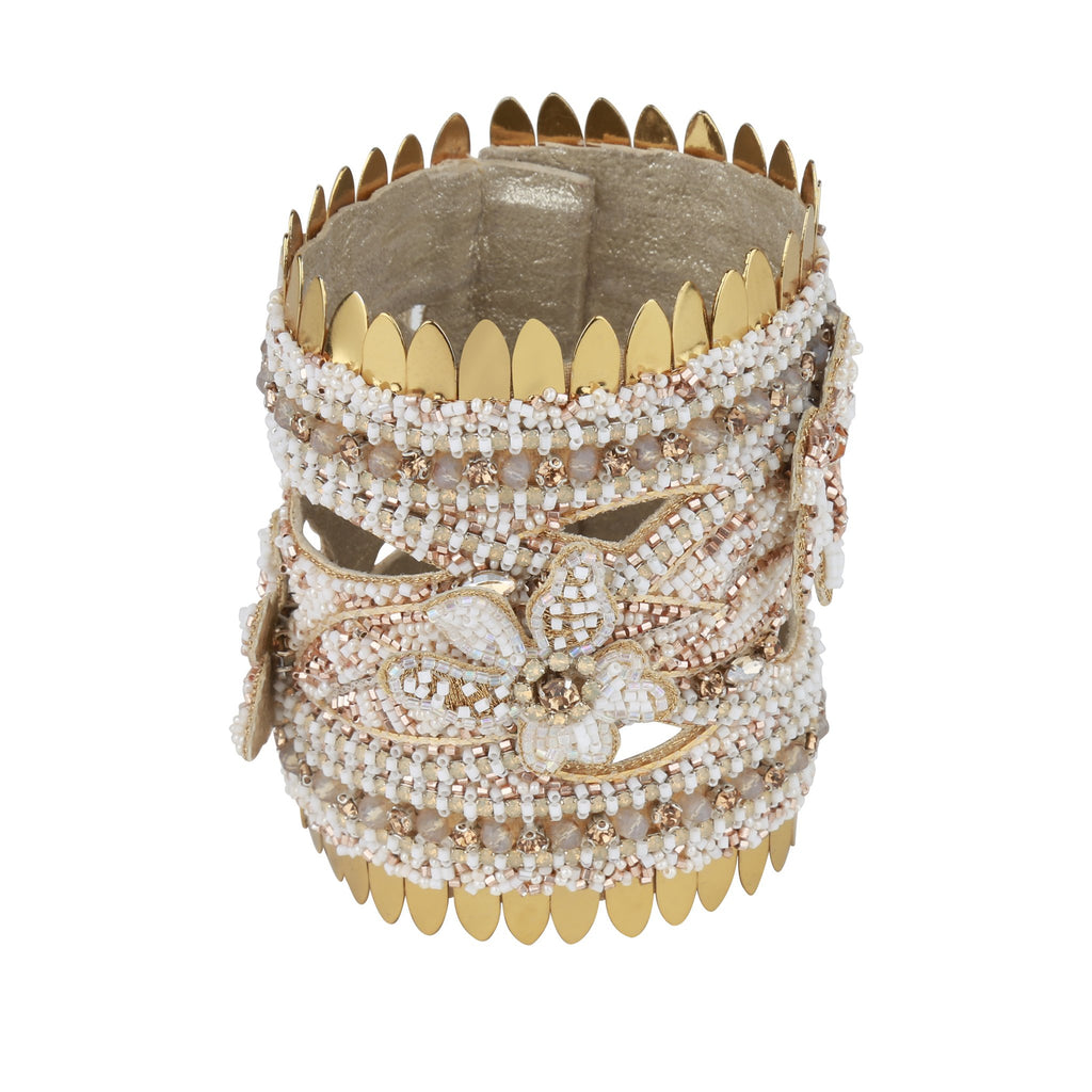 Gracelynn Gold Beaded Cuff