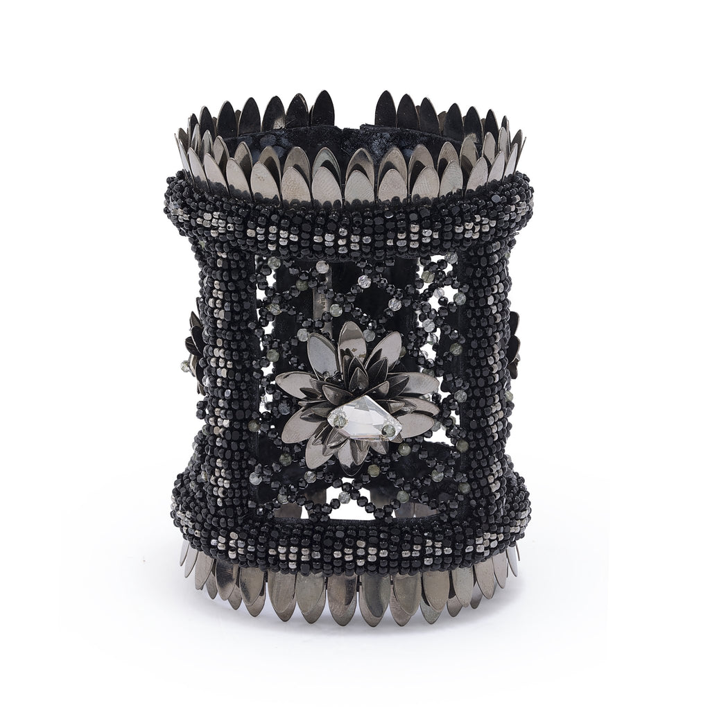 Kenzie Onyx Beaded Cuff