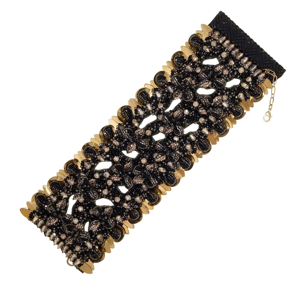 Moira Wide Beaded Cuff