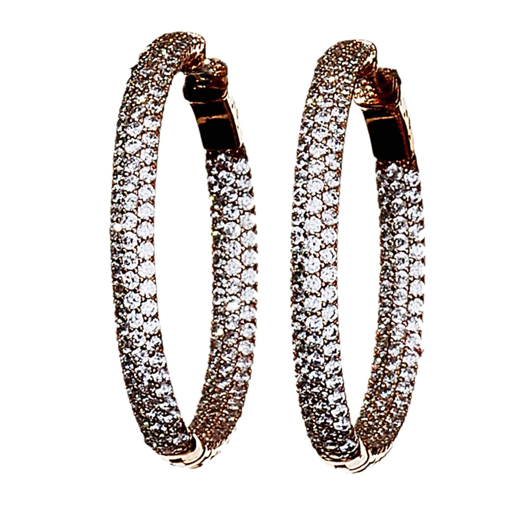 Sienna Rose Gold Hoop Earrings