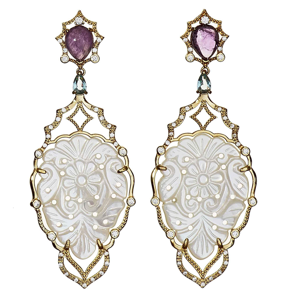 Alexandra Mother-of- Pearl Statement Earrings