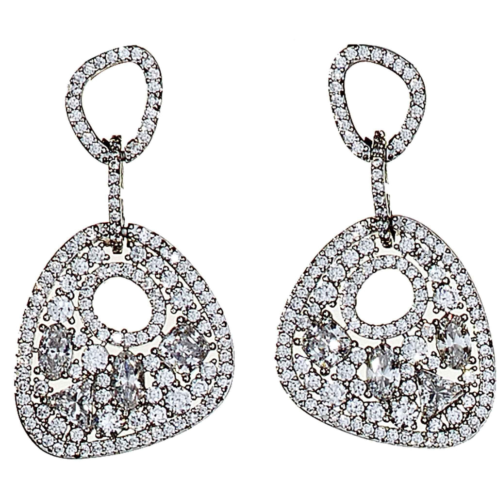 Margot Pave Crystal Drop Earrings